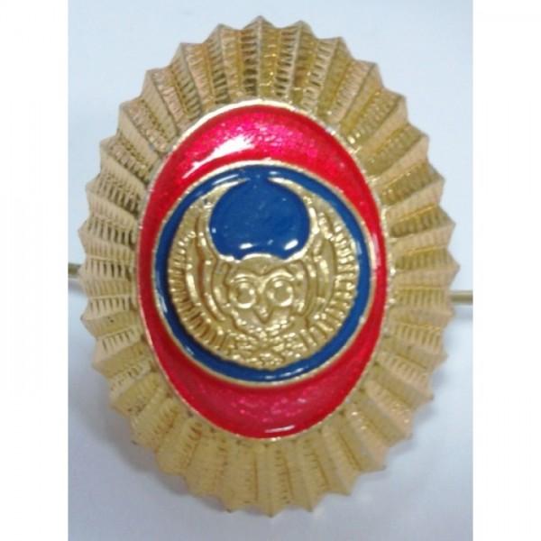 Овал Сова золото металл