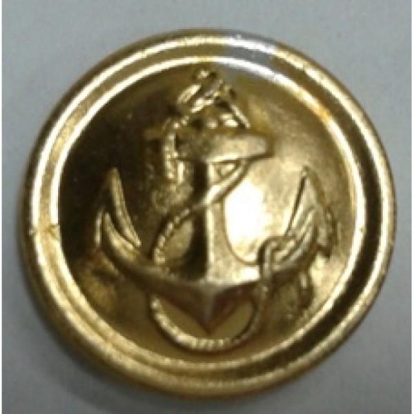 Пуговица малая металл золото с якорем