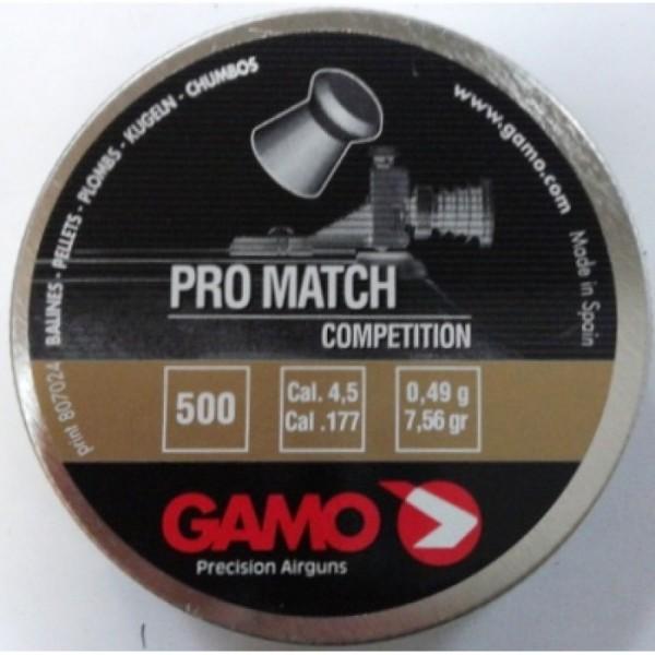 Пули для пневматики GAMO Pro Match 500 шт. калибр 4,5 мм